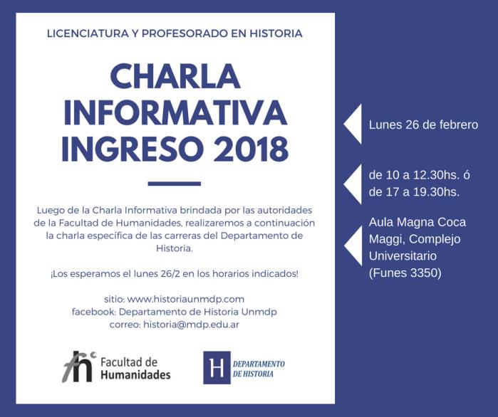 CharlaInformativaHistoria
